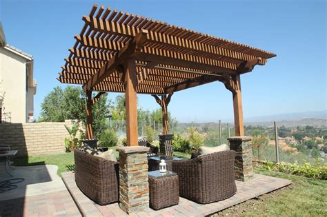 wonderful free standing wood pergola garden landscape