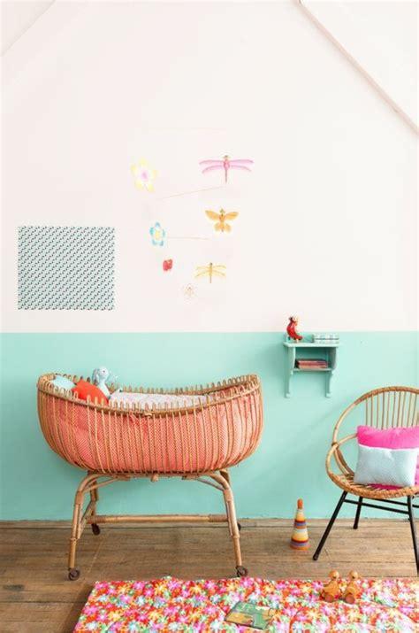 mur chambre bébé nos astuces en photos pour peindre une pièce en deux