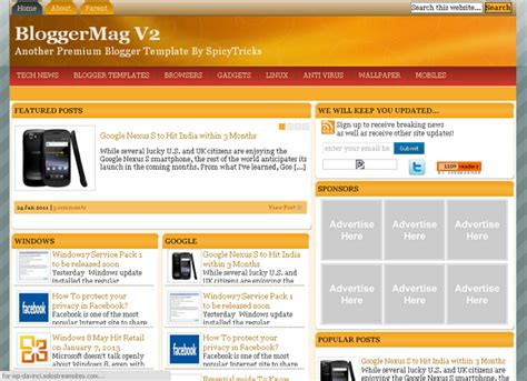 25+ Best Free Responsive Blogger Templates Ever [seo