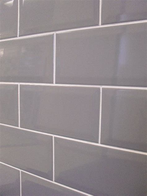 grey subway tile house bathrooms pinterest