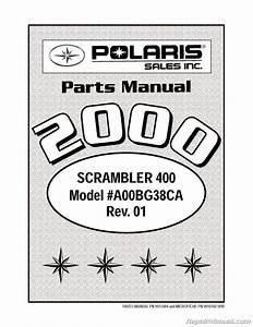 2000 Polaris Scrambler 400 4 U00d74 Atv Parts Manual