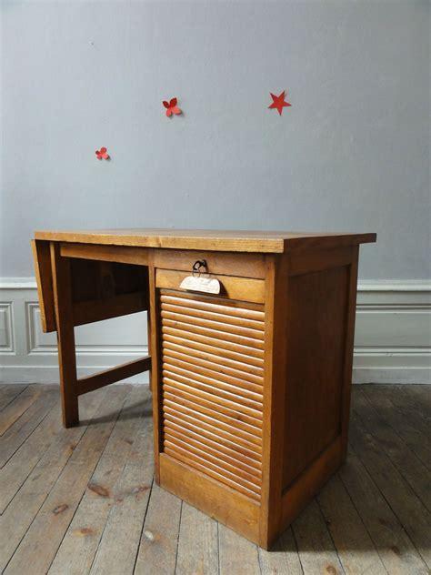 rideau bureau bureau a rideau annees 50 en chêne vintage émoi