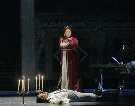 Tosca (kara Shay Thomson) Stands Over The Body Of Scarpia