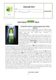 worksheets test how smart homes work
