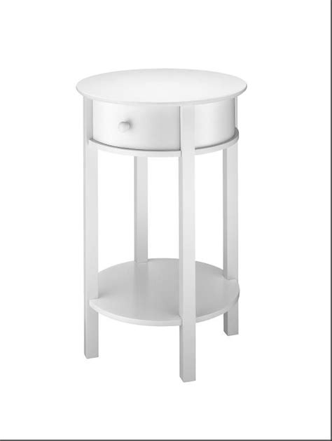 white round accent table essential home white accent table