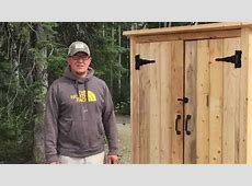 How to Build a Wood Smokehouse or Outdoor Closet YouTube