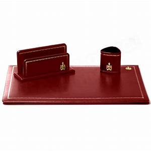 Parure De Bureau Cuir Bordeaux N10 Collection Napolon