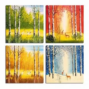 Achat Citronnier 4 Saisons : tableau 4 saisons peinture ~ Premium-room.com Idées de Décoration
