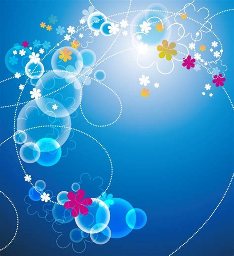 blue background designs abstract blue floral vector background free vector