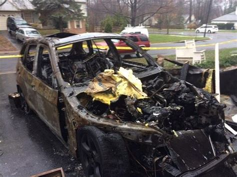 bmw mystery  owners claim parked car caught fire