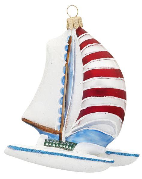 catamaran sailboat christmas ornament his and hers