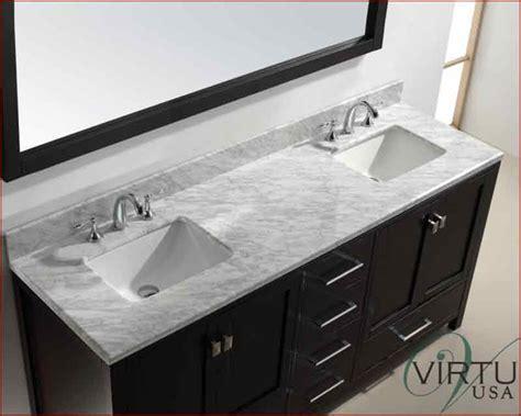 Square Sink by Virtu Usa 72 Quot Square Sink Bathroom Vanity Caroline Vu Gd
