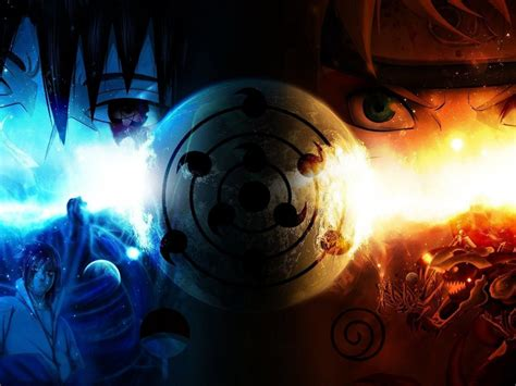 Naruto Fire And Ice Hd Anime Wallpaper Desktop Wallpapers