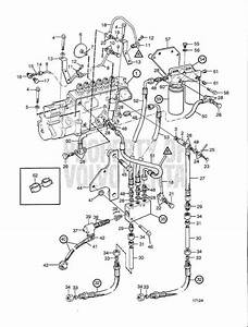 Volvo Penta Exploded View    Schematic Fuel System With