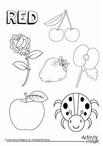 Red things colouring page | Colors | Pinterest | Red ...