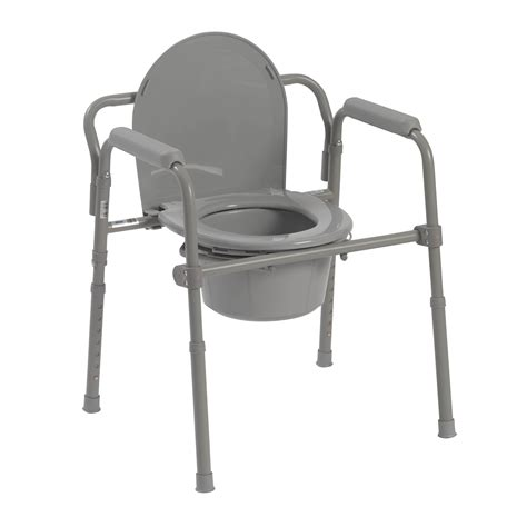 chaise baignoire folding steel commode drive