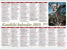 Jednolisni kalendari 2018