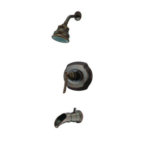 pegasus bamboo single handle 3 spray tub and shower faucet