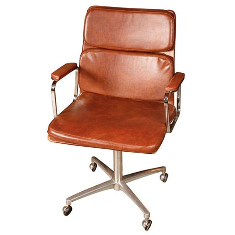 cognac leather deskchair at 1stdibs
