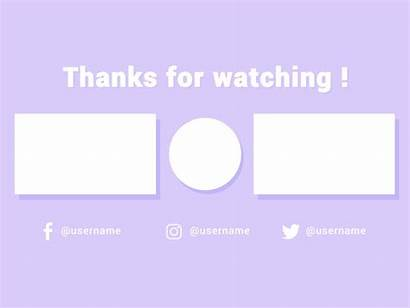 Outro Template Intro Banner Backgrounds Endscreen Minimal