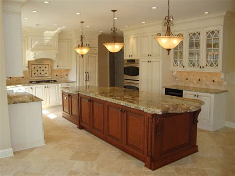 how to level kitchen floor large 2 level island kitchen traditional kitchen other metro by renaissance kitchen and home