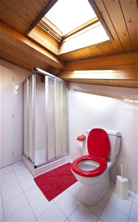 si鑒e pour salle de bain précautions pour une salle de bains sous les combles