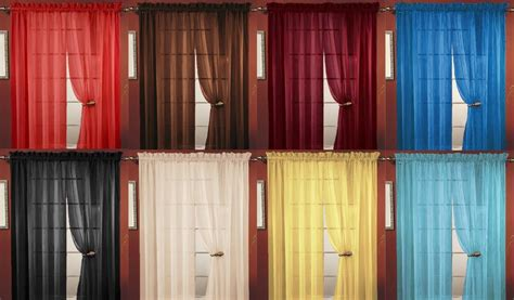 Quality Curtains And Drapes - sheer voile window curtain panel 20 colors great quality