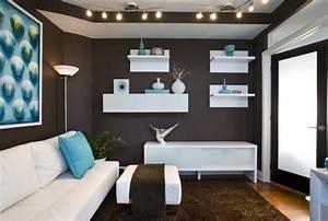 Schwarz Weiße Möbel Welche Wandfarbe : wohnzimmereinrichtung ideen braunt ne sind modern ~ Bigdaddyawards.com Haus und Dekorationen
