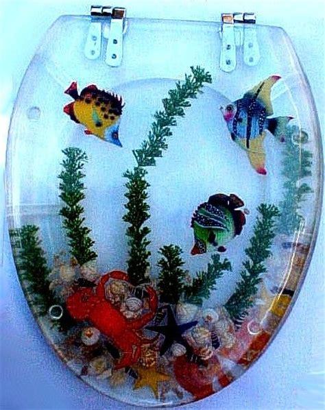 acrylic toilet seat  fish  crab home decor