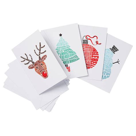 pack of four songs of christmas cards by lucy loves this