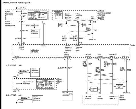 radio wiring diagram for a 2003 chevy silverado 2003 chevy bose factory radio wiring diagram autos weblog
