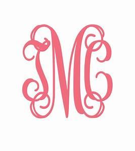 design packages interlocking vine monogram svg font With free monogram