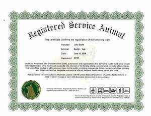 Service dog certificate template svoboda2com for Service dog certificate template