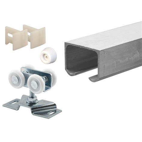 pocket door track prime line 72 in extruded aluminum pocket door track kit