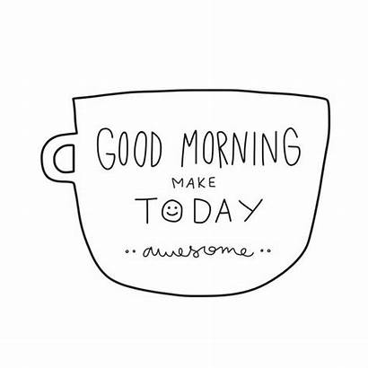 Morning Word Cartoon Today Awesome Monday Vector