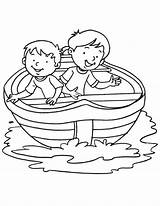 Boat Coloring Row Racing sketch template