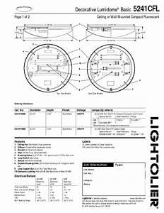 Decorative Lumidome Basic 5241cfl Manuals