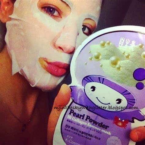 mj in the sky with glitter asian skincare face sheet masks