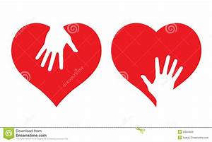 Hearts With Helping Hands Stock Photo - Image: 23504620