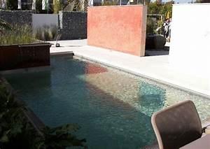 Kleiner Pool Für Terrasse : mediterraner terrassengarten mit bio pool ohne rasen ~ Orissabook.com Haus und Dekorationen