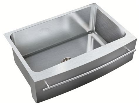 stainless steel apron sink with towel bar just stainless steel sinks model search