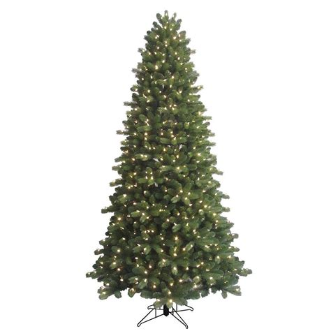 fake tree with lights ge 9 ft indoor pre lit led energy smart spruce artificial