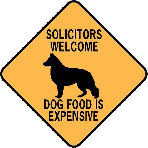 solicitors  dog food  expensive aluminum sign won