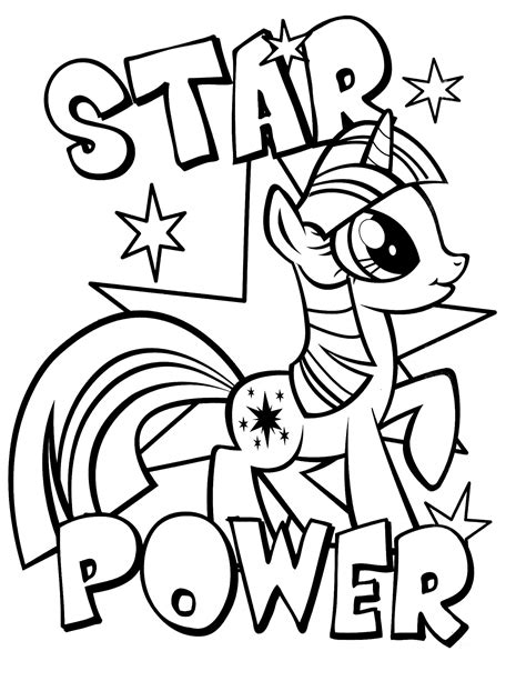 My Little Pony Coloring Pages Printable Cartoons