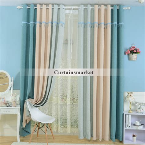 blue bedroom energy saving curtains and drapes