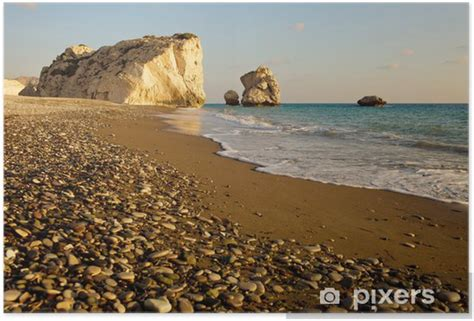 petra tou romiou in paphos cyprus poster � pixers174 � we