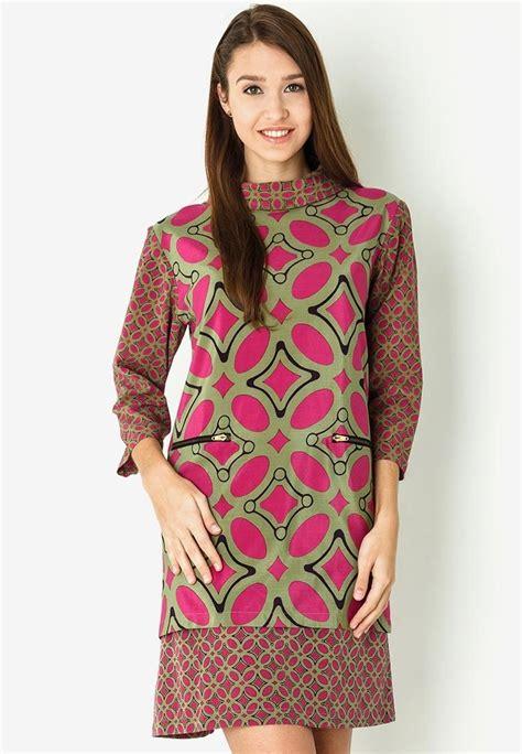 mini dress batik kawung  danar hadi sp kleider