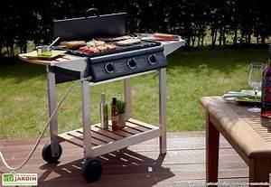 Barbecue Gaz Avec Plancha Et Grill : barbecue plancha gaz puerta luna 3 br leurs titane ~ Melissatoandfro.com Idées de Décoration