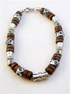non nickel earrings brown surfer style beaded bracelet men 39 s jewelry