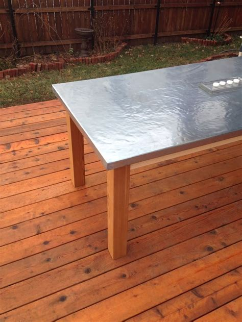 diy outdoor zinc table